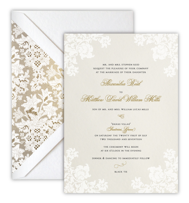 Alexandra Luxury Foil Letterpress Wedding Invitation
