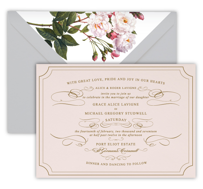 Grace Luxury Foil Letterpress Wedding Invitation