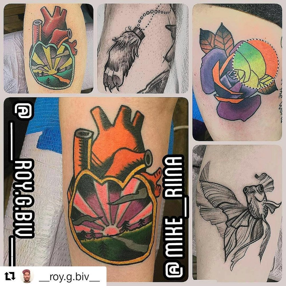 Geary Morrill tattoos for Ink to End Lyme 2017