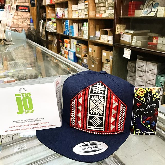 Delivering an order of a Navy Blue snapback hat w/ the Tribalogy Bedouin handmade embroidery design (@tribalogy_products) to the JO Shop (@thejoshop). The JO shop is the leading online retailer of Jordanian goods - apparel, home goods, food products, and more - and they ship worldwide! And they are a great partner of Herfa - check them out. ---------------- Don't forget - our #HerfaSummer contest is still rocking! ---------------- ##socialmedia #herfaheritage #handmadebeauty #madeinjordan #livelovejordan #handmadewithlove #ammanfashion #ethicalfashion #snapbacks #hats #shirts #tanktops #tanks #onesies #jordan #usa #kickstarter #funded #embroidery #smallbiz #l#livelovejordan #summertime #bawabetal-sharq #tribalogy #womensempowerment