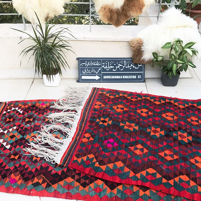 "herfaHOME IS LIVE! (Link in bio)  Just posted the gorgeous geometric kilim from Jordan with sweet pink signatures from the weaver. 💓 9'8""x3' $450 Special promo code on our site this week use ""helloherfa"" for 20% off. . . . . @herfahome #HerfaHOME @herfaheritage #vintagehome #antiquerugs #vintage #howwedwell #mycuratedaestetic #modernbohemian #myhomevibe #bohemianhome #ilovemyinterior #mydomaine #bohemianhome #bohemiandecor #bohemianstyle #bohochic #ihavethisthingwithtextlies #currentdesignsituation #ighomes_interior #myhomevibe #middleeaststyle #middleeasteveryday #handmadegoods  #myboldhues #getthegloballook #middleeasteveryday @designsponge @blissfully_eclectic @kismet_house @natasha.designs @eclectic.leigh @anatoliandesign @justinablakeneyhome @designlovefest @loomandkiln @apartmenttherapy #apartmenttherapy @thegoodrug #vintageshop #vintagerug #vintagestyle"