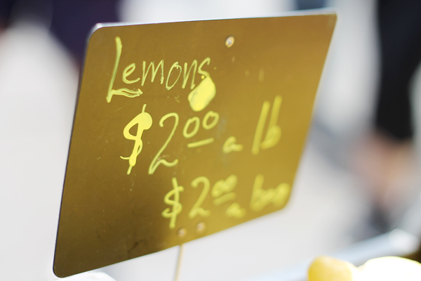 Little Italy's Farmer's Market - Fresh Lemons