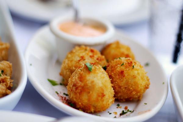 Romesco Baja Med Bistro - Jamon Serrano and Cheddar Cheese Croquettes