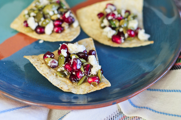 Pomegranate, Basil and Queso Fresco Salsa