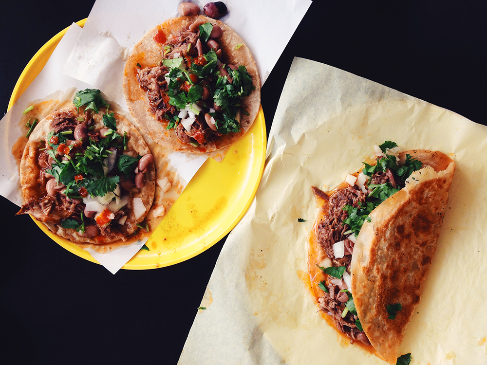Goat and beef birria tacos at Birrieria Don Rafa, Chula Vista