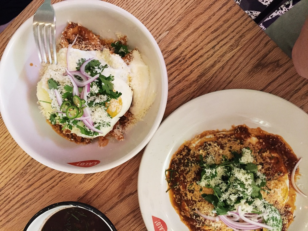 Chilaquiles rojos and huevos rancheros at Lalo! — Colonia Roma