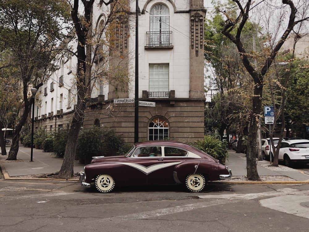 Outside of Hotel Condesa, Mexico City