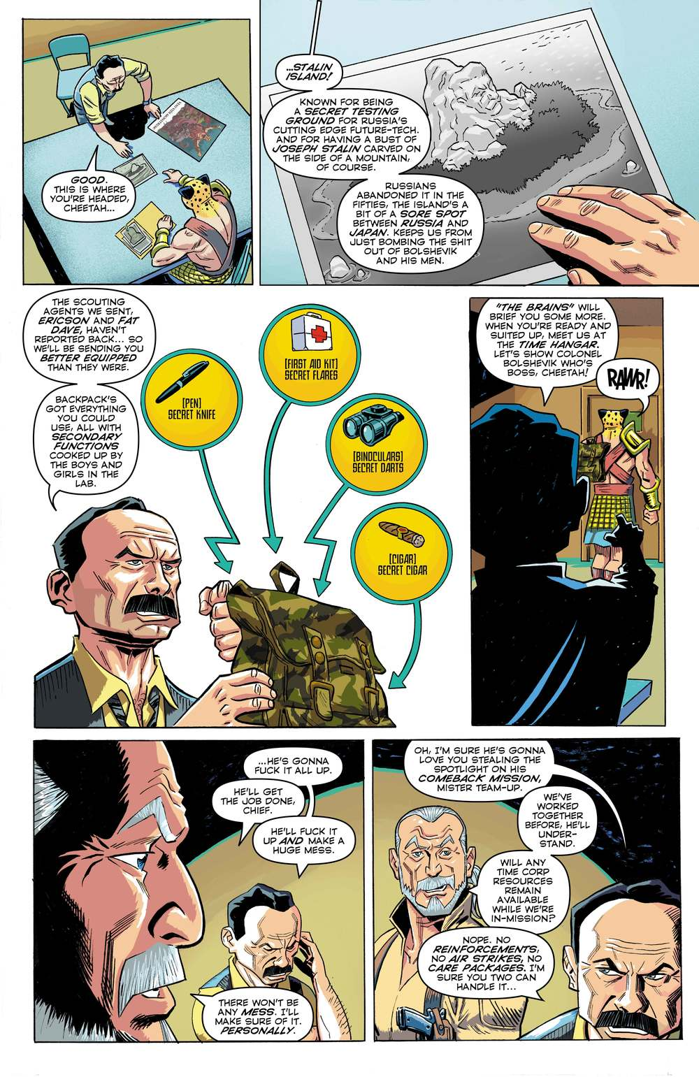 Time Cheetah - The Secret of Stalin Island Part 1 - Page 08
