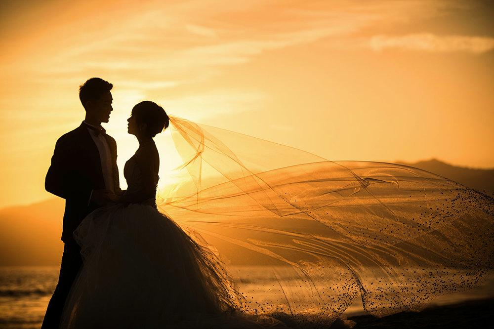 santa monica海边婚纱照
