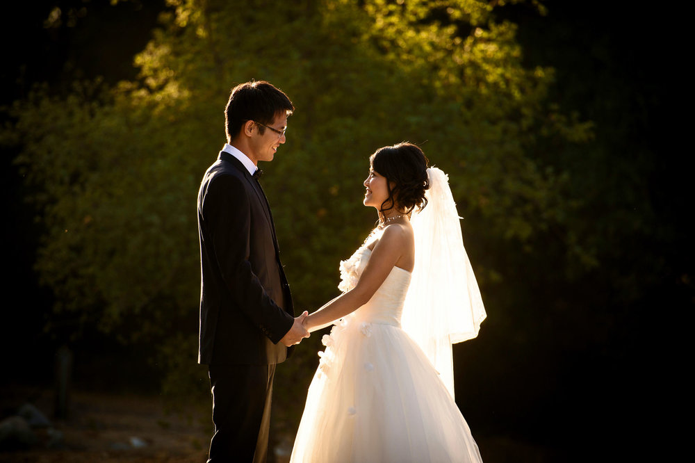 sweet moment between the couple when they are doing pre-wedding shooting