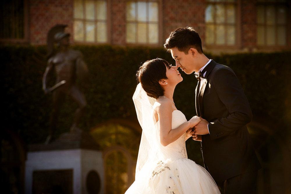usc校园婚纱照 温馨时刻