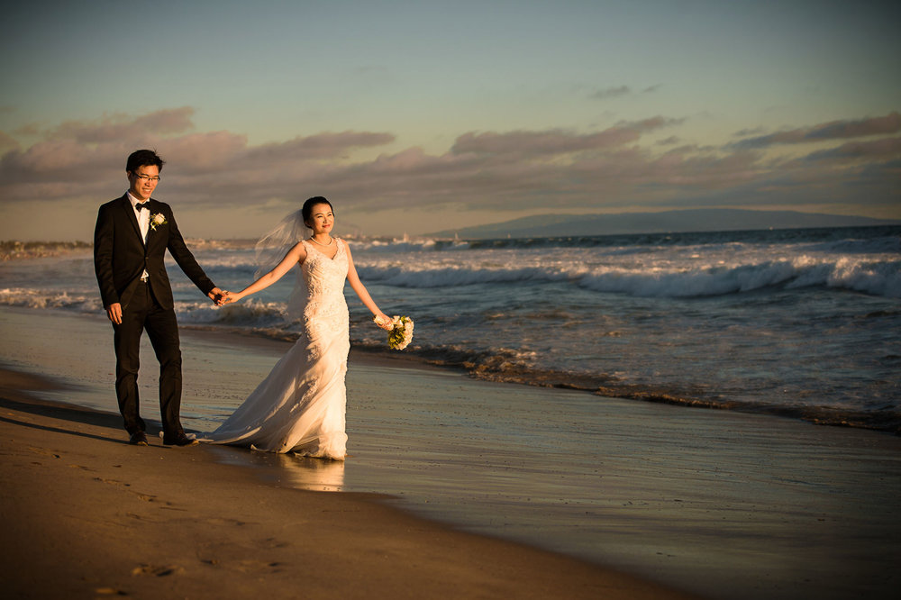 santa monica pre wedding 圣莫妮卡海边婚纱照