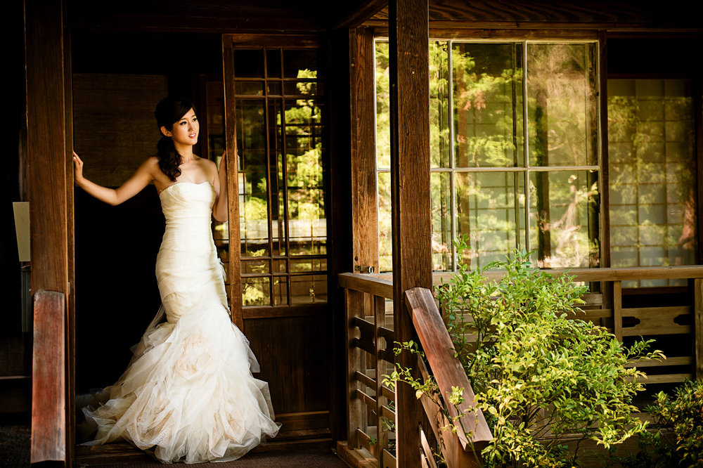 旧金山湾区日本花园hakone gardens婚纱照
