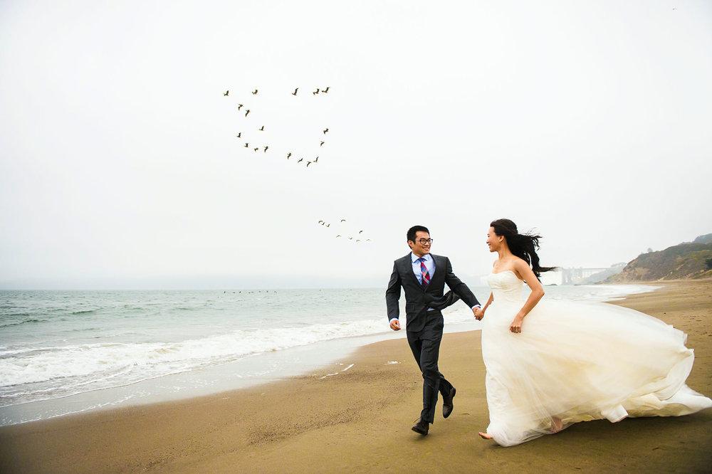 旧金山baker beach婚纱照