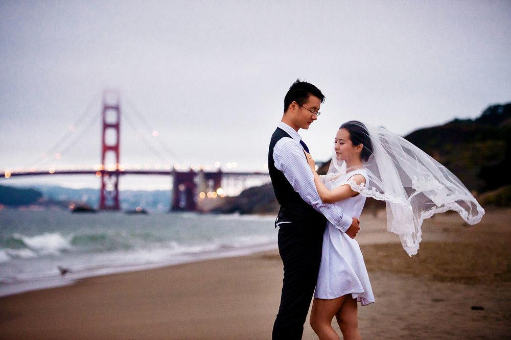 旧金山baker beach婚纱照 by Tommy Xing
