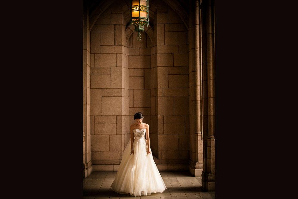 bride plays the dress 西雅图婚纱照