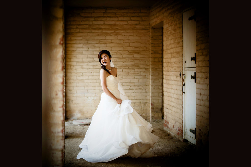 Happy Bride at topanga state park