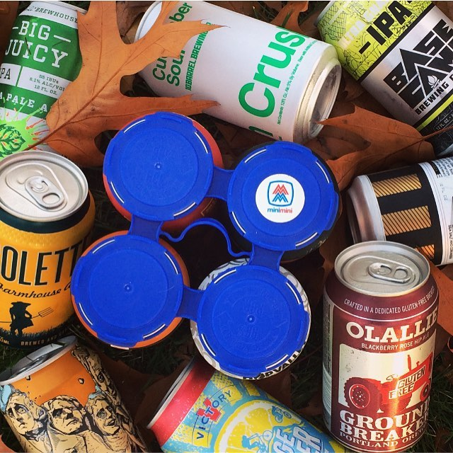 Cold cans of local craft beers