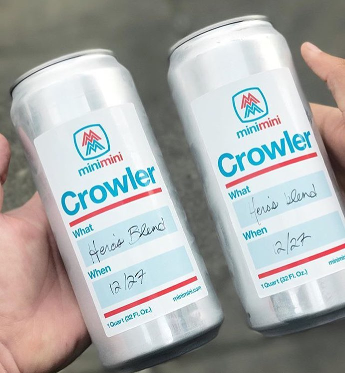 Kombucha on tap & to-go in crowlers by Lion Heart