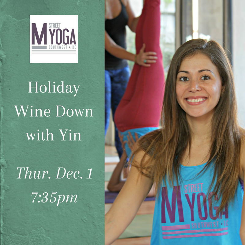 holiday wine down yin yoga xixi rivera