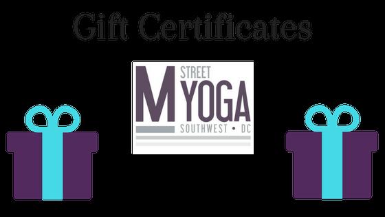 m street yoga gift