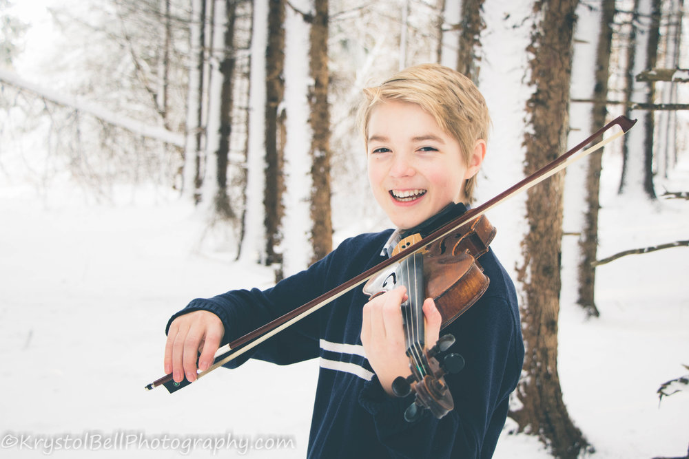 Ben teaches my son violin and we just think the world of him.  I love the tone of this photo on a very cold, snowy day.  You can see how happy and kind he is.