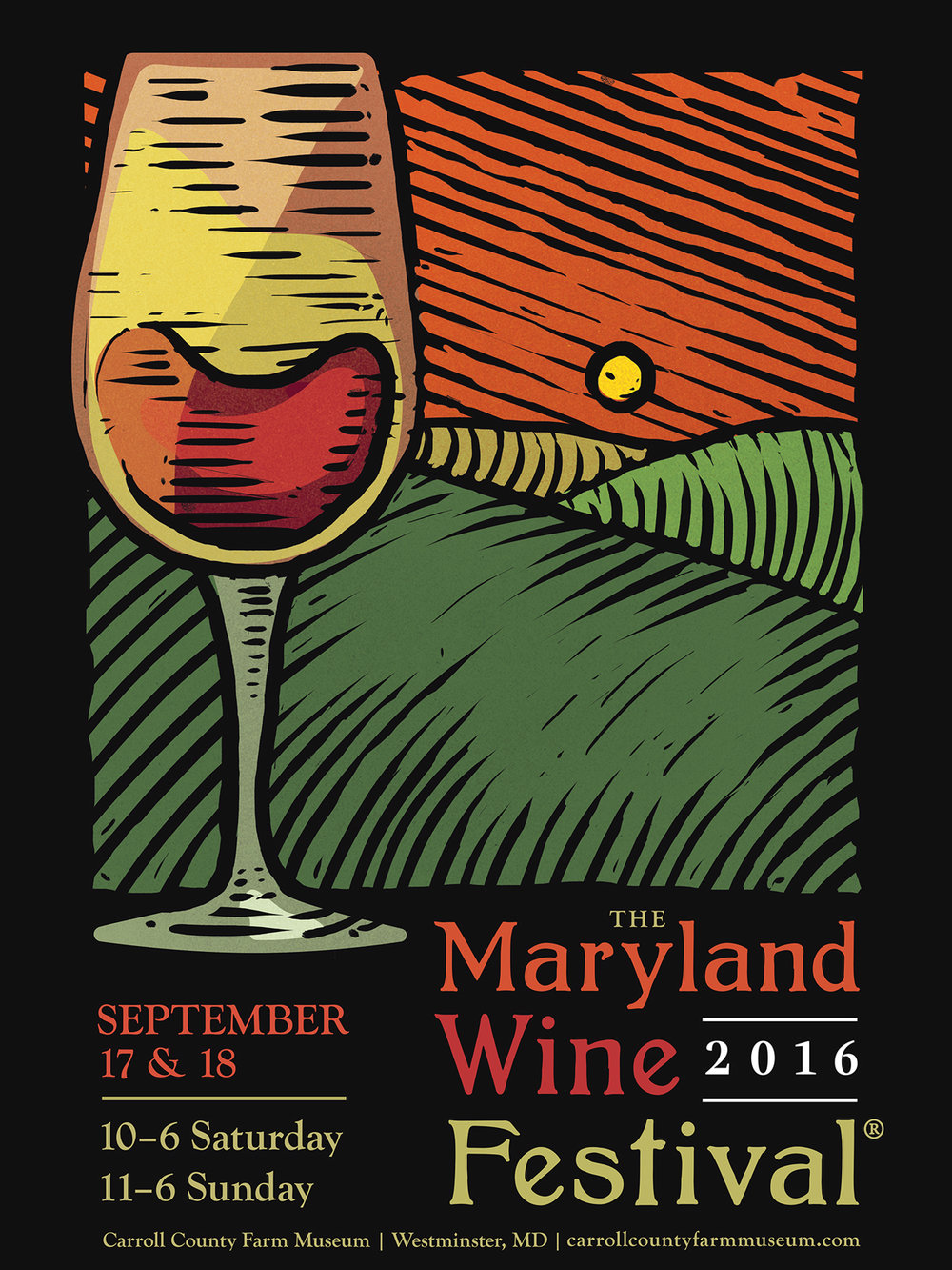 2016 Maryland Wine Festival - Runner-up submission for the 2016 Maryland Wine Festival call to artists.←back