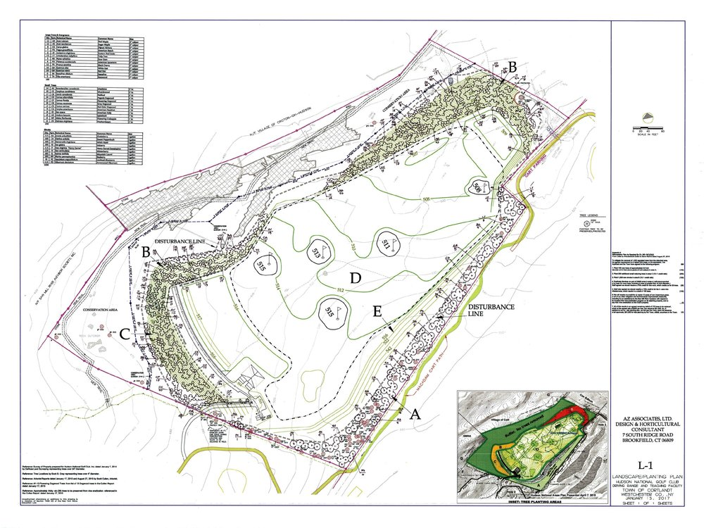 Croton on Hudson planting plan