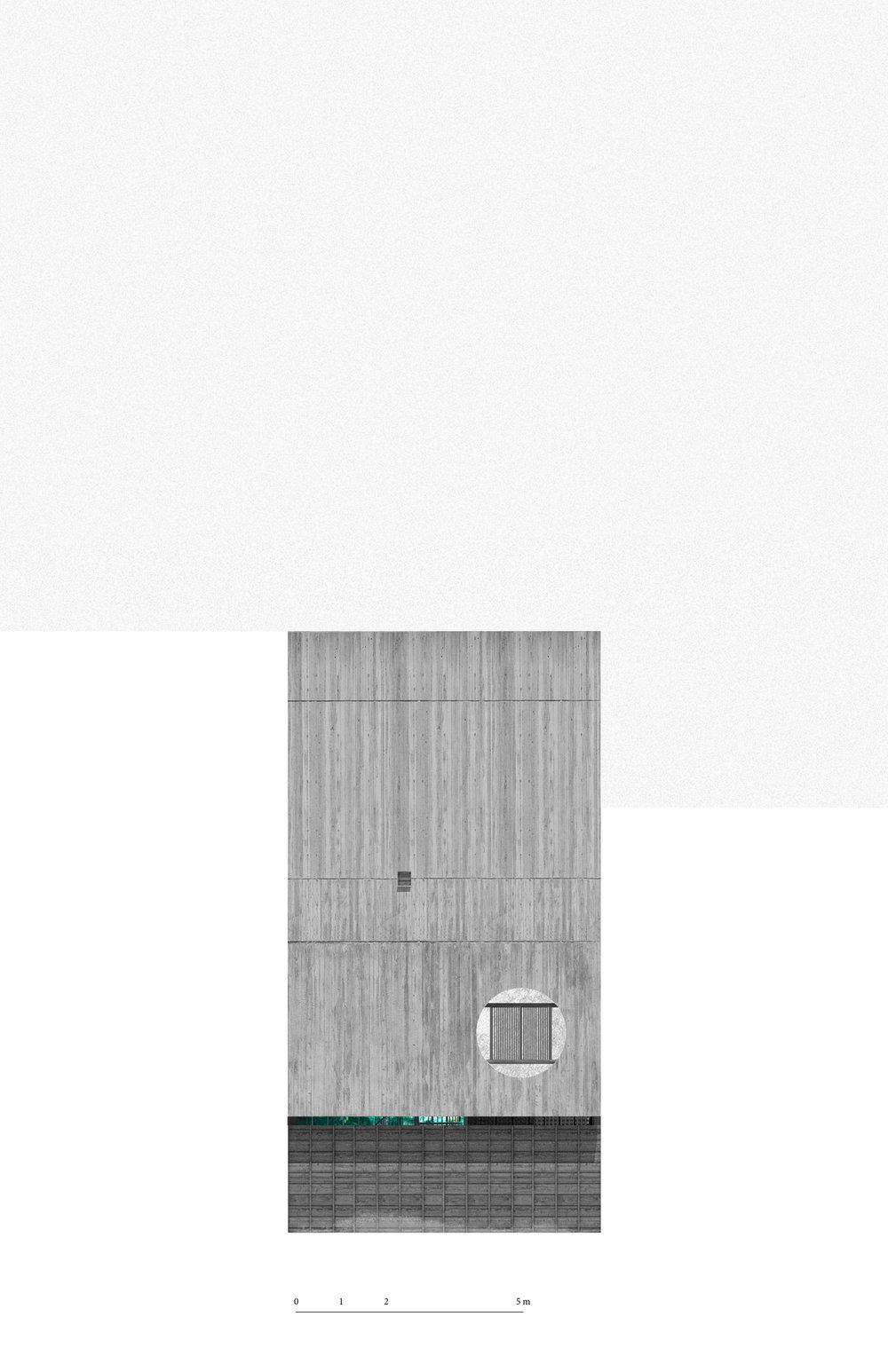 El diseño de la casa hace uso de una sola estructura de concreto intersectada por tapancos de madera y acero para dar la apariencia de un espacio industrial atemporal.  El programa se genera alrededor de dos espacios verdes: el patio trasero con un árbol de mango existente y un patio central de triple altura que funciona como invernadero.   The design of the house makes use of a single concrete structure with wooden and steel elements to give the appearance of a timeless industrial space.  The program is generated around two green spaces: the backyard with an existing mango tree and a central triple height greenhouse.