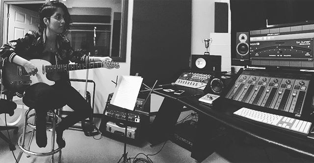 Writing session with @musixnz. Demos also have to be in tune.  #torontostudio #guitar #protools #torontomusic #torontoindiemusic #stool