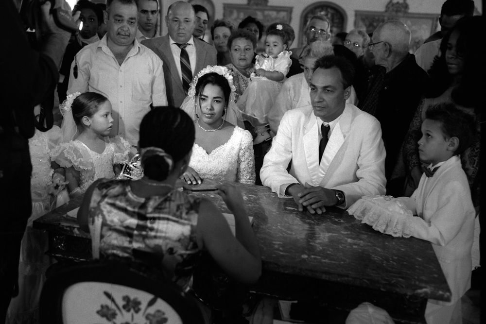 Marriage ceremonies take place in beautiful, colonial buildings in Havana, Cuba.