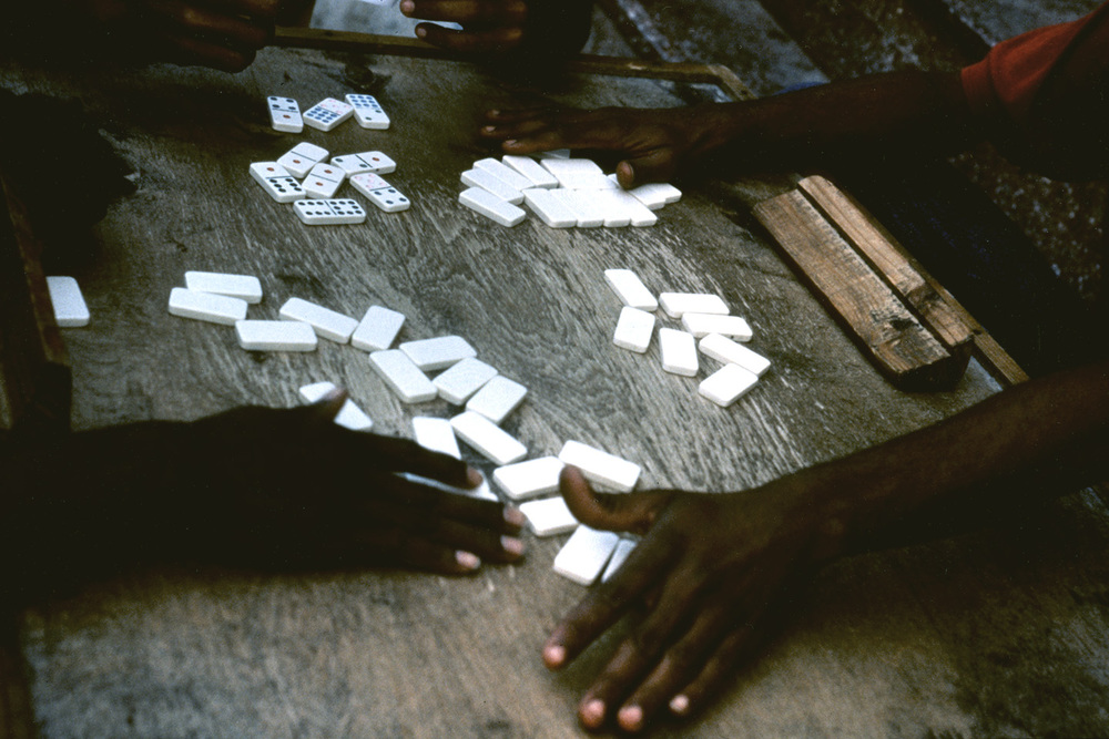 Playing dominoes, Old Havana, Cuba.