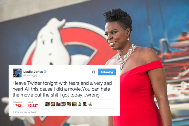 """Celebs Tweet Support for Leslie Jones"" Buzzfeed Article, July 19, 2016."