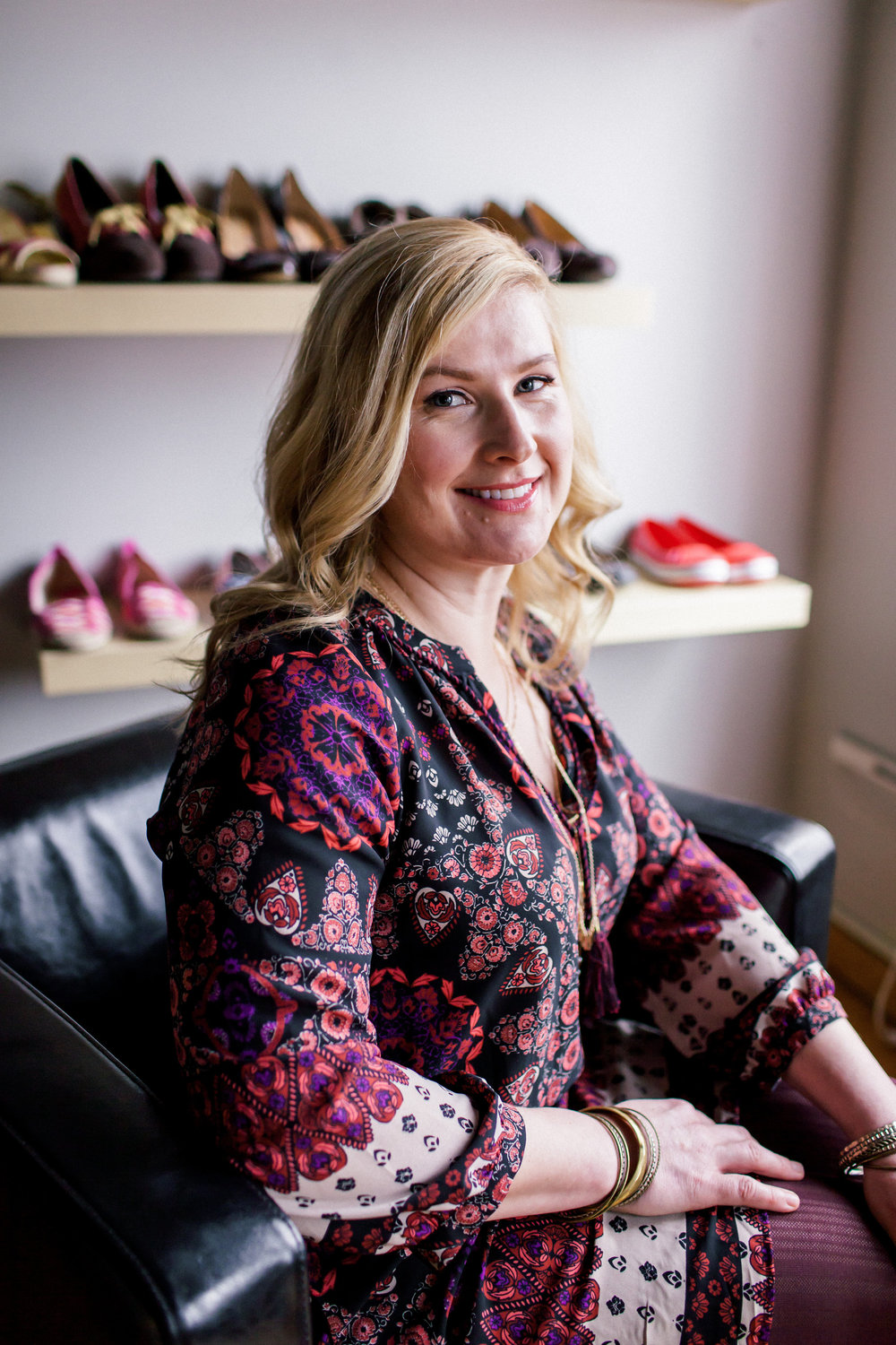 Being a small business owner and a mother of three daughters keeps Brynne busy! Brynne likes pieces that are versatile and fun and is always up for trying a new trend.