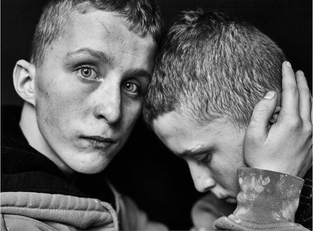 Adrian and Andrzej, twins, 2016, c-print