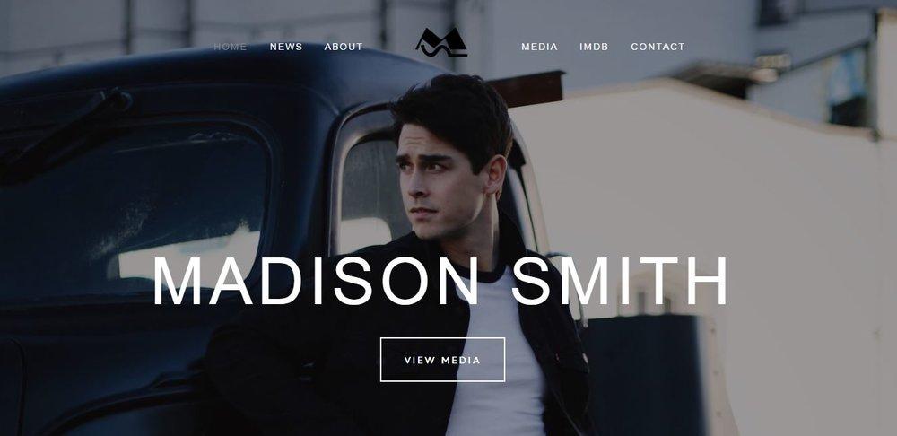 Madison Smith Website Design   February 2017