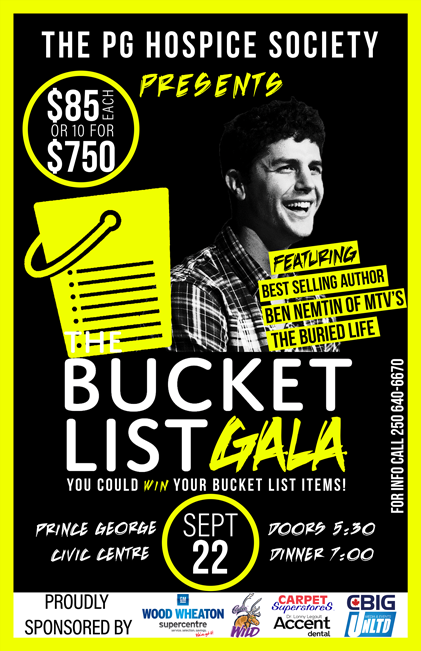 The Bucket List Gala