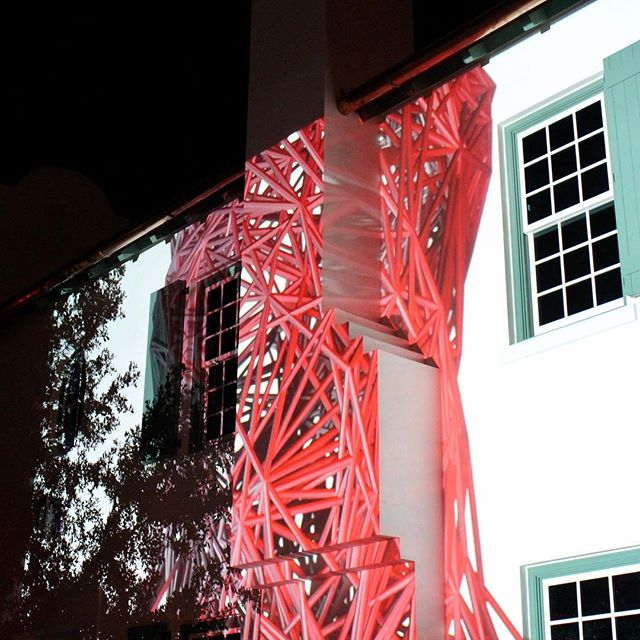 @dgalysbeach @unsplash #photography #projection #digitalgraffiti #art #pattern #red #building #night #projectionmapping #digitalart #dgalysbeach #alysbeach