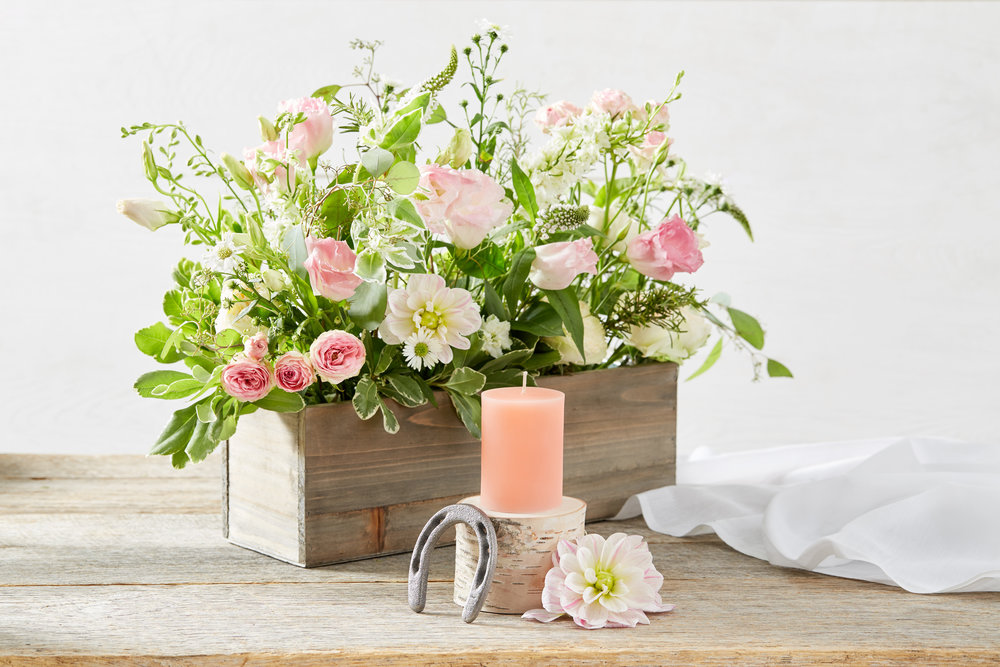 EMBLA. Customize your wedding centerpiece with these candles in a whole new setting.