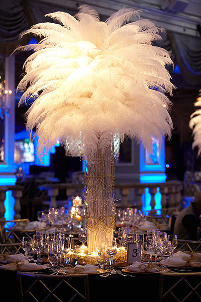 GATSBY. Give your wedding a glamorous feel with this Gatsby-themed centerpiece.