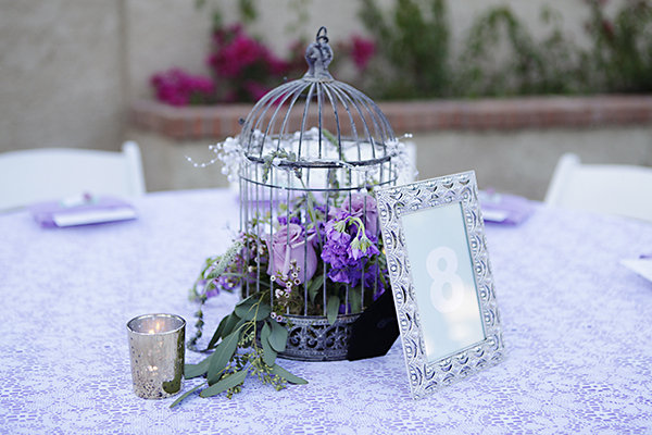 ANTIQUE BIRD CAGE. Perfect centerpiece for a vintage-themed wedding.