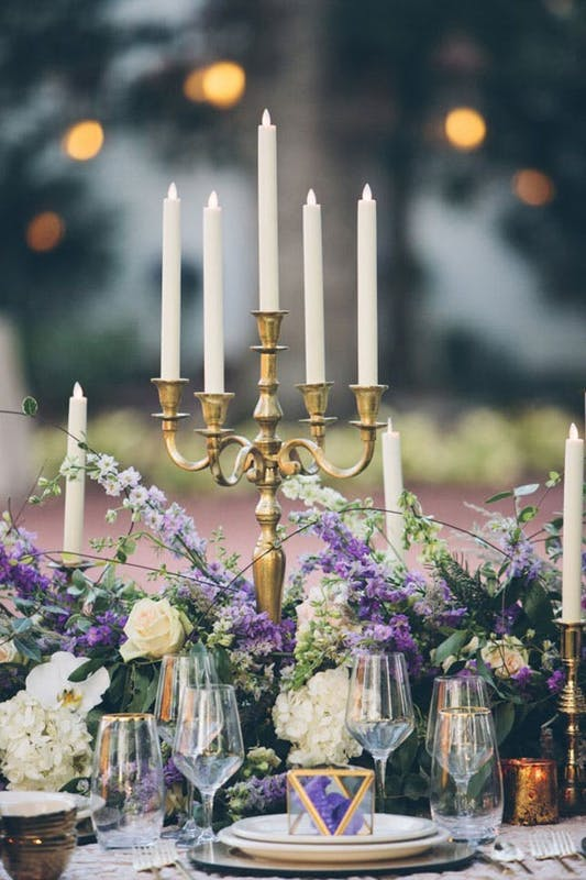 CANDELABRAS. Give your wedding an elegant look with this classic candelabras.