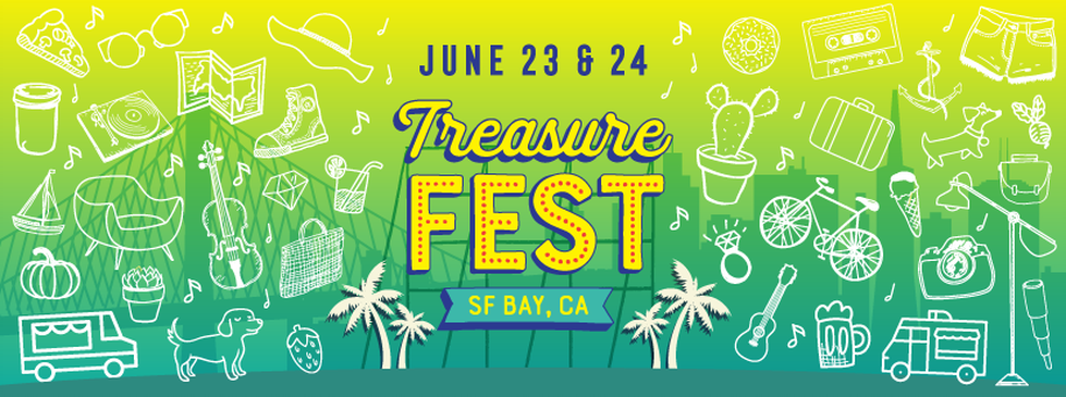 One part shopping, one part feasting, and one part music and entertainment. TreasureFest  (formerly Treasure Island Flea), is a unique monthly festival that showcases the best of the bay area.