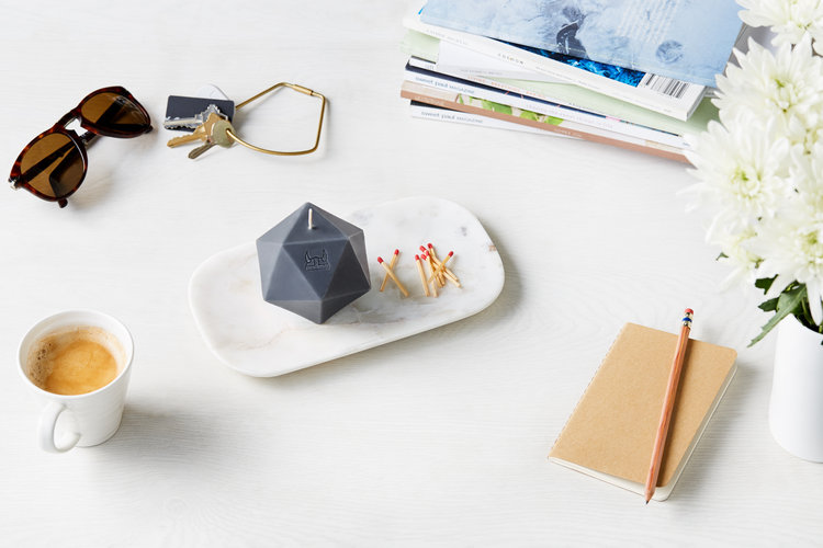 Pentagon Candle  by  Embla
