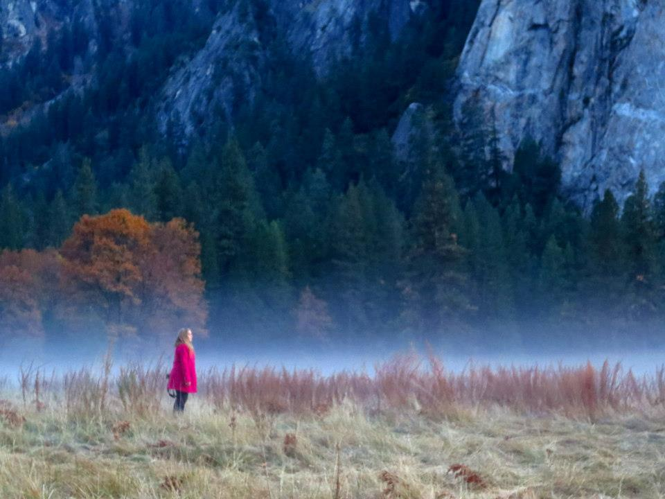 Dancing in the mist at Yosemite National Park.