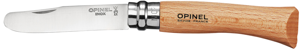 Opinel No. 7 picnic knife with traditional beech wood handle