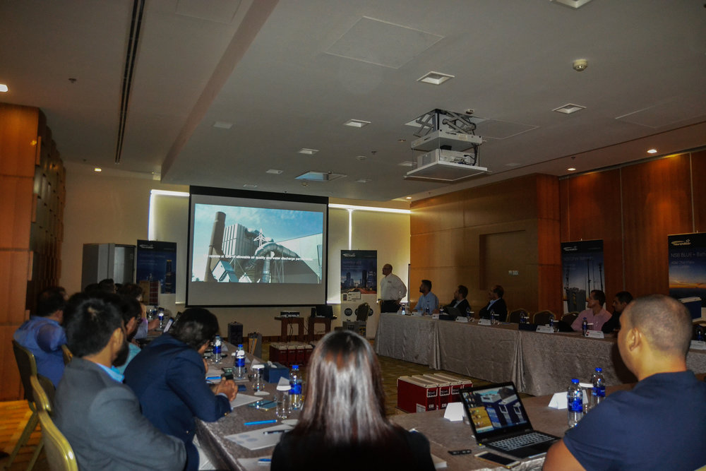 NorthStar Battery Presentation in Dubai using our plant tour film for a presentation.