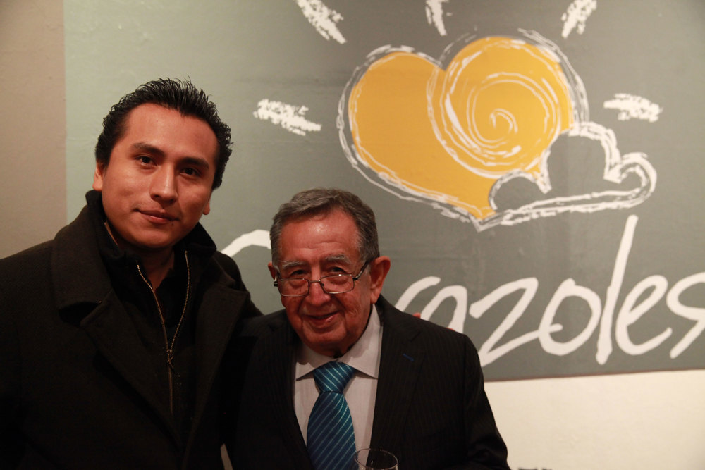 At the opening of Corazoles with José Lazcarro
