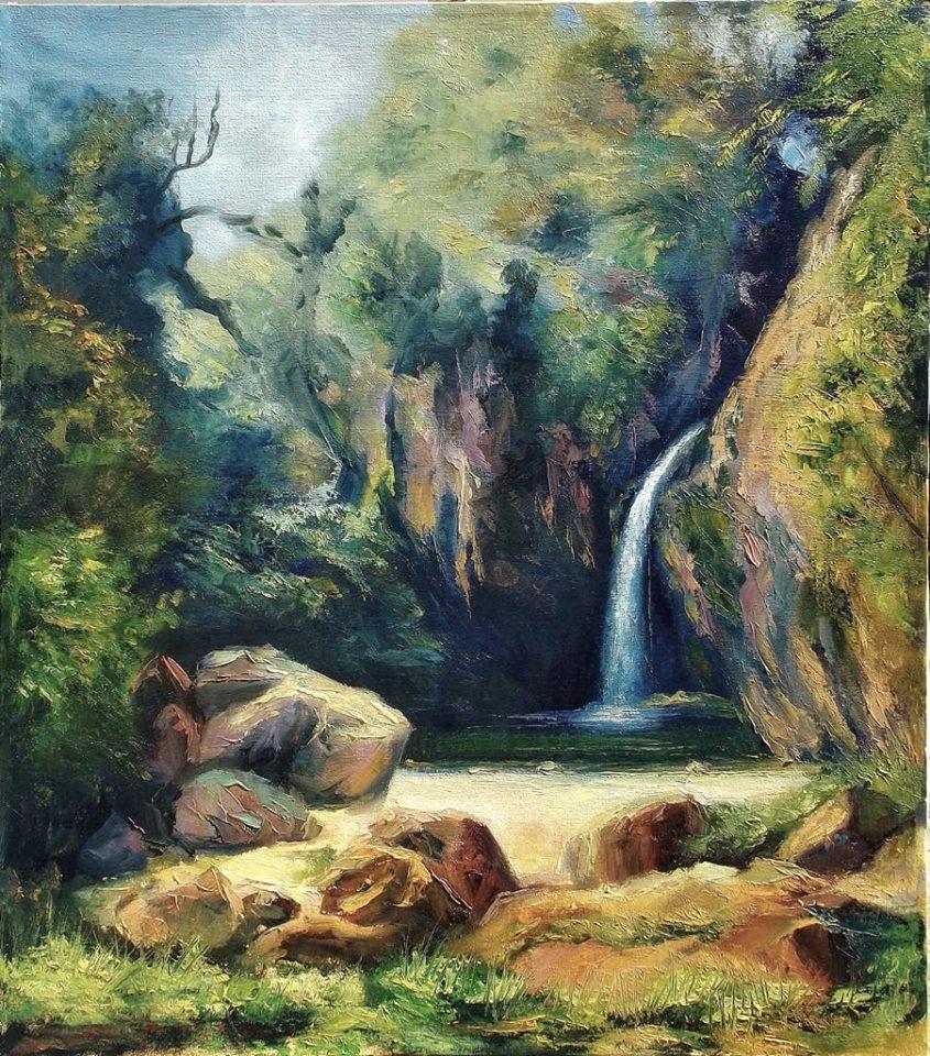 CASCADA LAS BRISAS  Oil / canvas  16 X 24 in.  2010