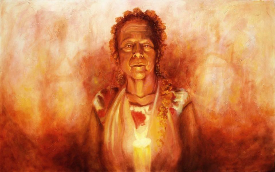 DEVOCION INTRINSECA  Mixed media / canvas  78x62 in (200 X 150 cm)  2011